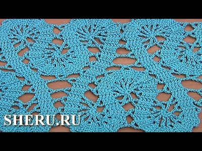How to Crochet Bruges Lace Tape Tutorial 19 Part 2 of 2 Кайма или лента в технике брюггского кружева