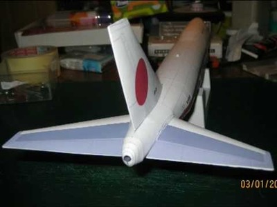 Boeing 747-400 (japanese government) paper model 1:144
