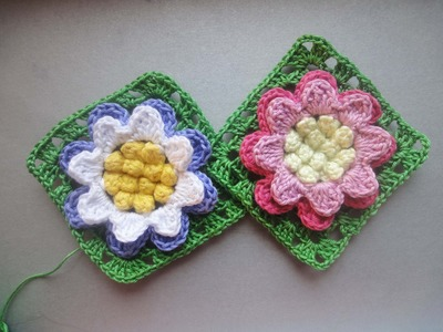Цветок в квадрате Flower in a square Crochet
