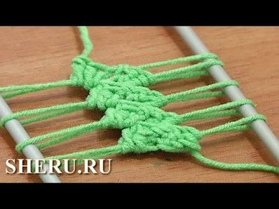 How to Crochet Hairpin Lace For Beginners Урок 12 Вязание лент на вилке