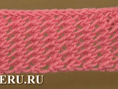 Knitting  Mesh Stitch Pattern Урок 18 Узор сетка
