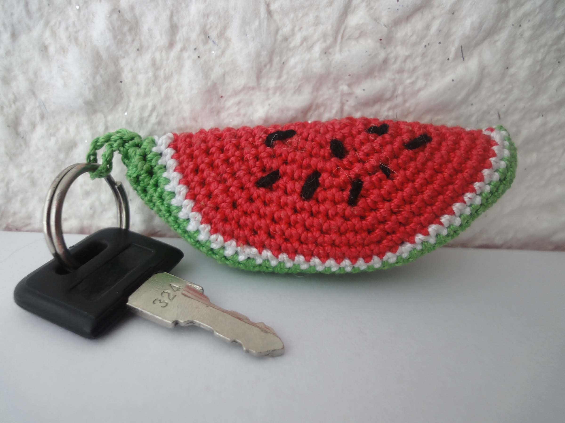 Кусочек  АРБУЗА  slice of watermelon Crochet