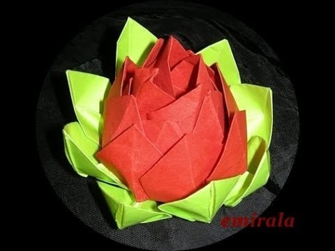 ▶ Origami Lotus Flower Instructions