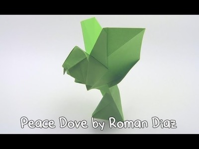 Origami Peace Dove by Roman Diaz - Yakomoga Origami tutorial