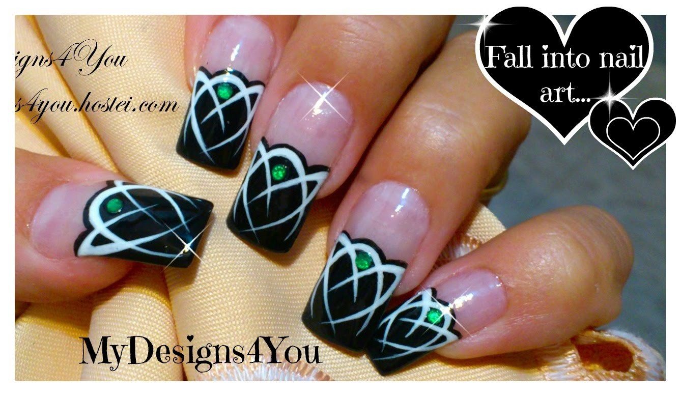 Celtic Nail Art Tutorial | Emerald Gem Nails | Tattoo Nails ♥ Кельтский Дизайн Ногтей