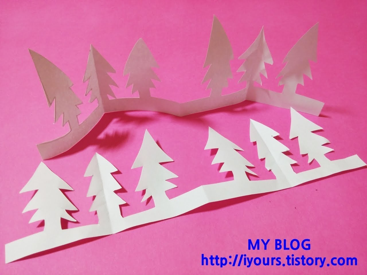 EASY PAPER CUTTING TREE, 나무 종이 오리기