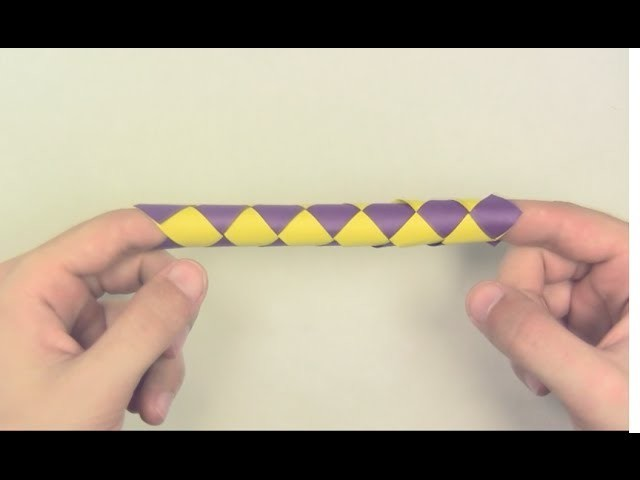How to Make a Chinese finger trap out of paper - Yakomoga Origami tutorial