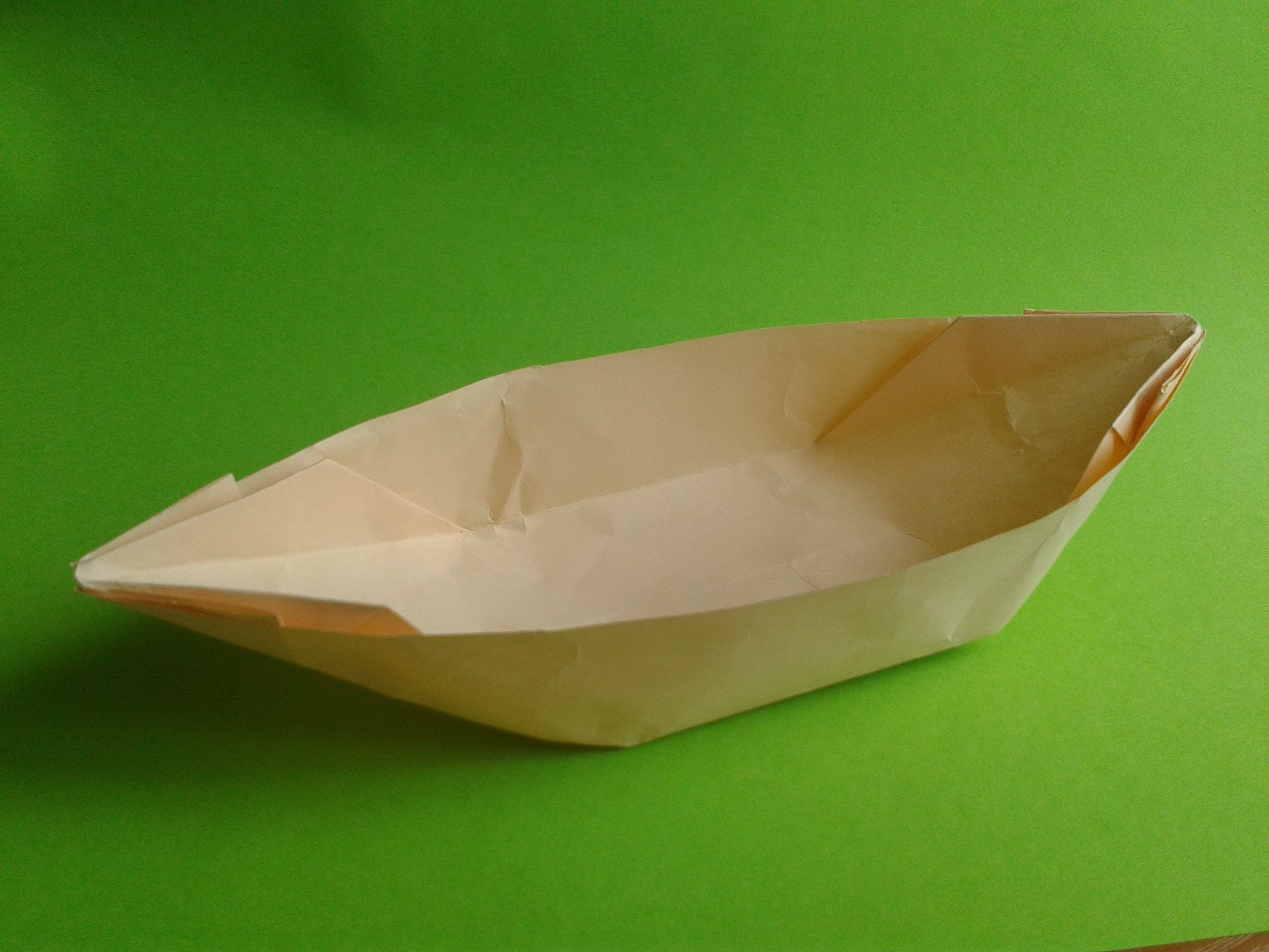 How to make an origami boat canoe.Оригами каное