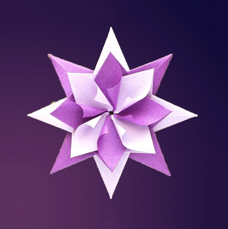 Easy and awesome origami star.  Оригами - звезда. Ideas for Easter