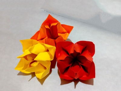Bouquet for Mother's day.  Origami Bunch of flowers for present. House decoration