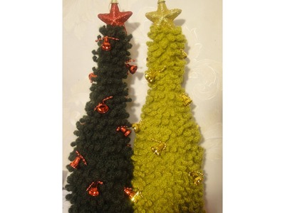 ЁЛКА на бутылку Часть 2 CHRISTMAS TREE on the bottle crocheting Part 2
