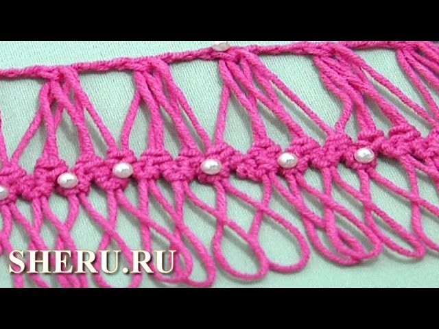 Hairpin Developing Basic Braid Lace Урок 27 Обвязка ленты