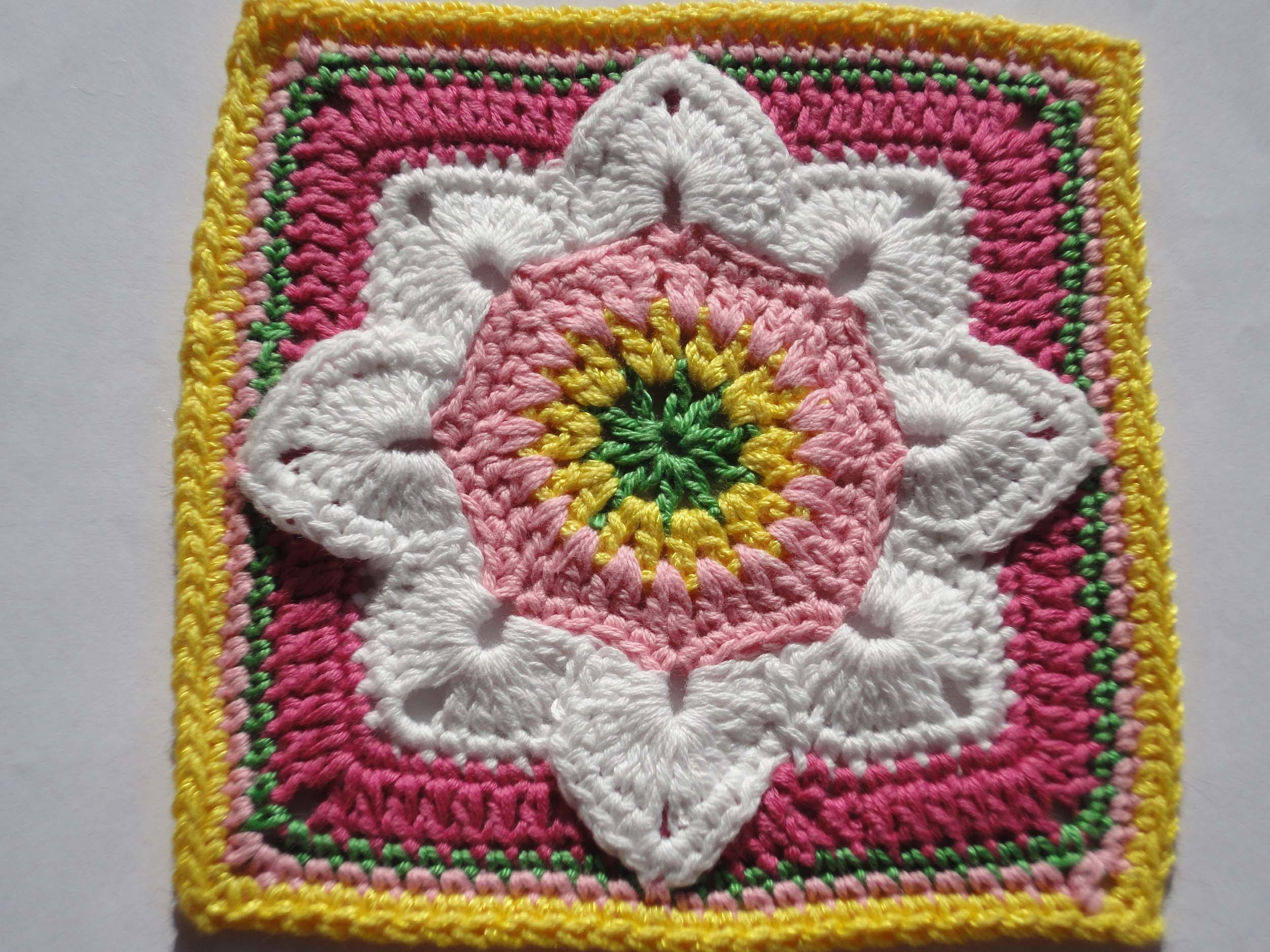 Квадратный мотив  The square motif Crochet
