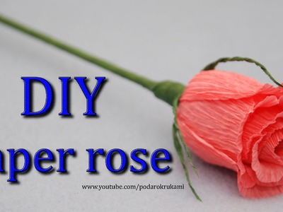 Роза. Букеты из конфет. DIY crepe paper rose.