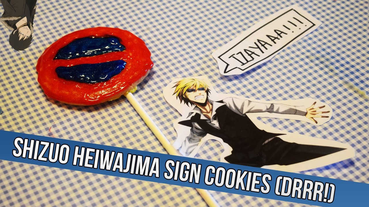 Anime Baking DIY: Shizuo Heiwajima Sign Cookies (DRRR!!)