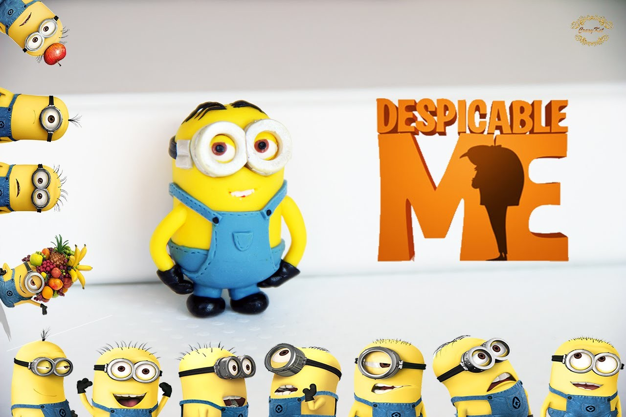 CrazyKet:Миньон ☼  Полимерная глина ☼ Minion Polymer Clay Tutorial ☼ Мастер-класс