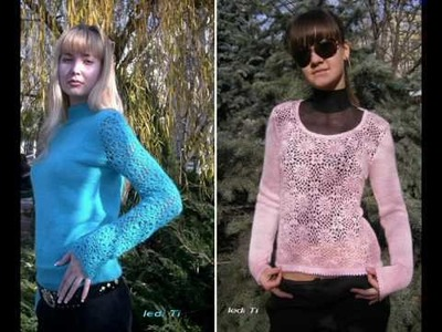 Elena Wedenskaya presents Knitted models from a warm yarn