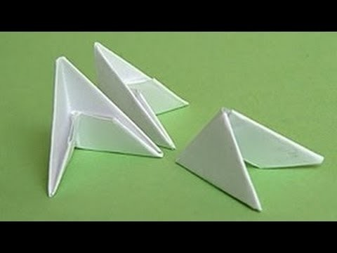 Origami - Треугольные модули для 3D оригами - paper crafts - the art