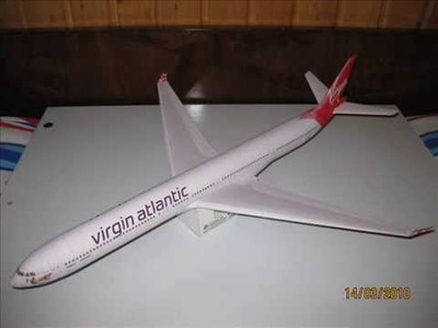 Airbus A340-600 Virgin Atlantic Airways paper model 1:120