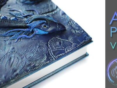 AZURE DREAMER - Polymer Clay Journal by Mandarin Duck - Блокнот Полимерная глина