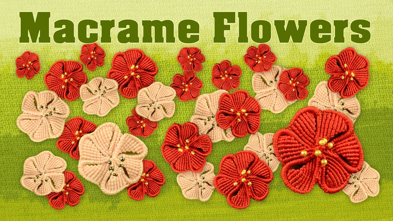 How to Make a Macramé Flower ✿ Fiore ✿ Fleur ✿ Flor ✿ Blume ✿ Цветок