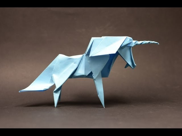 Origami Unicorn by Roman Diaz (part 2 of 2) (remake) - Yakomoga Origami tutorial