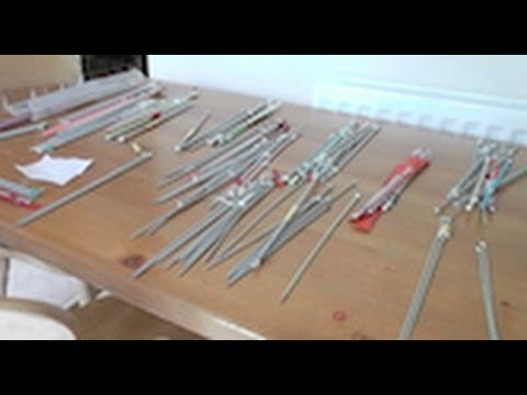 Our knitting needle collection!