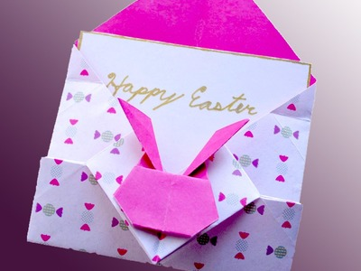 Ideas for Easter. Bunny gift envelope. Конверт с зайчиком - оригами