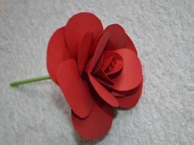 Como hacer una flor de papel, How to make a paper flower. tutorial