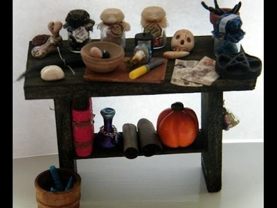 Polymer clay haunted spooky witchy dolls house scale miniatures. Мои миниатюры из полимерной глины