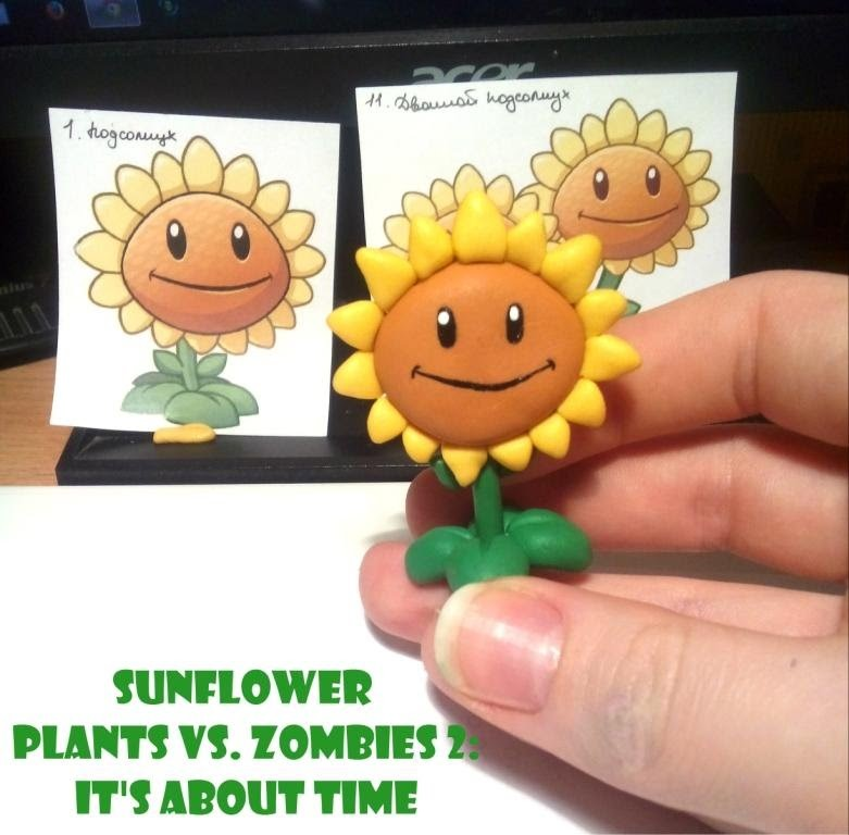 SUNFLOWER Plants vs. Zombies 2  Polymer Clay Tutorial