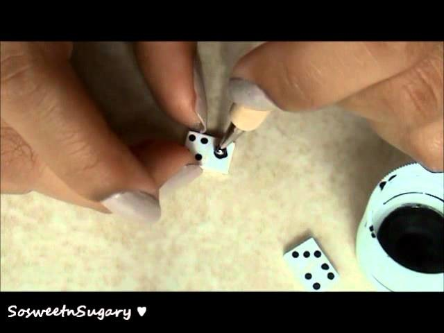 Tutorial: Polymer Clay Domino Earrings
