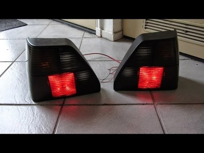 車DIY How to install rear marker side lights Channel VW Golf 2 Car LED ideas Светодиодные огни хвост