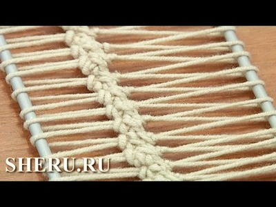 Hairpin Cord Lace Урок 17 Лента на вилке из столбиков без накида