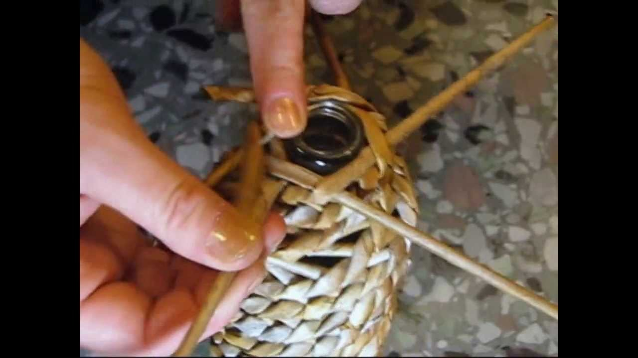 Basket making. Spiral weaving. Part 1.
