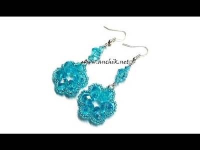 "Tutorial: beaded flower earrings. Как сделать handmade серьги ""Цветочки"" (tutorial)"