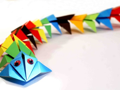 Paper craft for kids. Origami dragon. Оrigami for kids