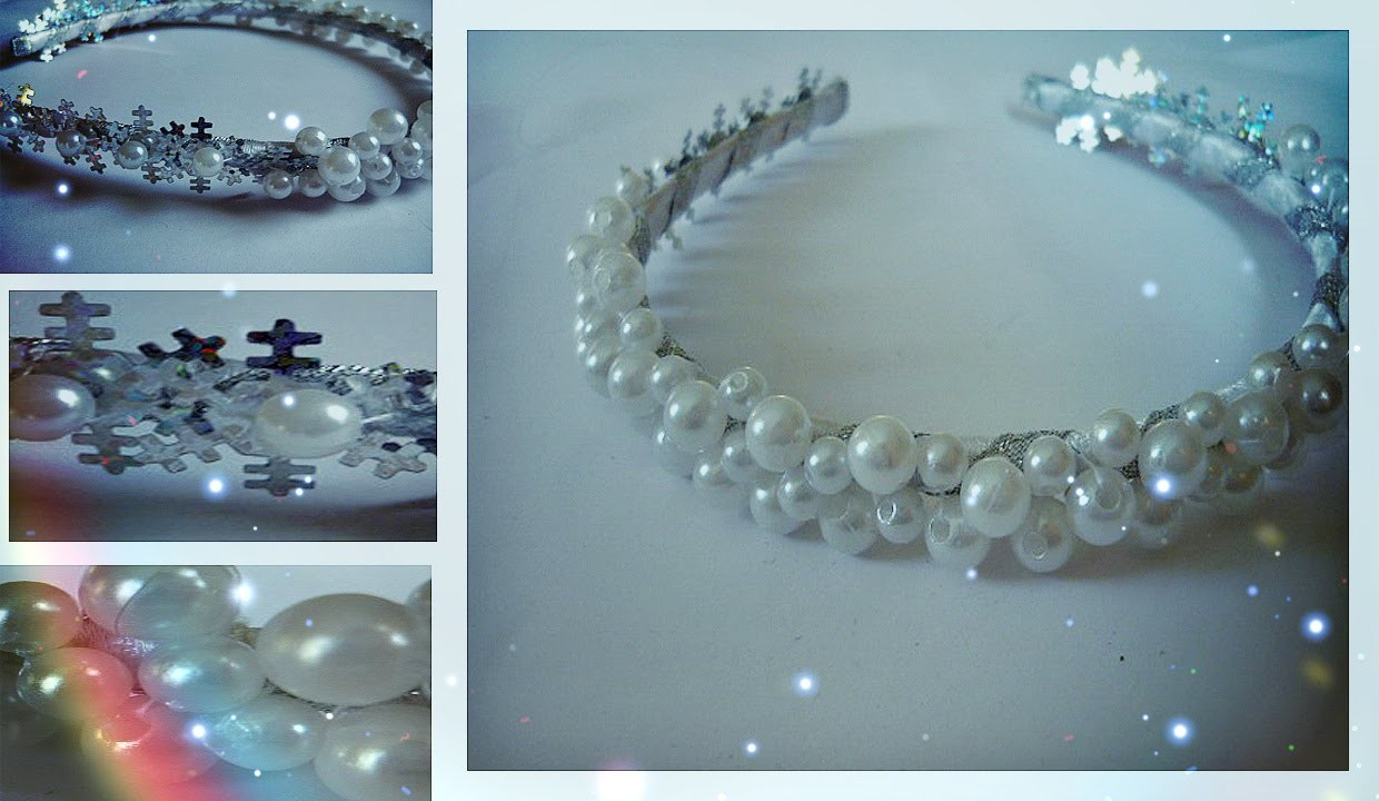 "Ободок ""Frozen""♥ ♥ ♥  Winter headband by Dana Tinker"