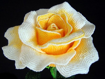PART 2 of 2: Beaded Roses. Розы из бисера (photos)