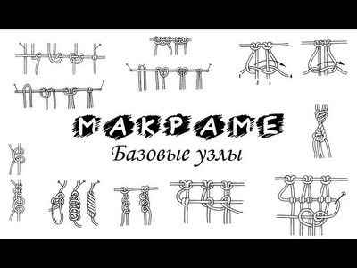 Macrame basic knots PART 1 of 10. Макраме базовые узлы УРОК 1 из 10