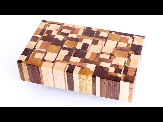 Making Chaotic pattern end grain jewelry boxes