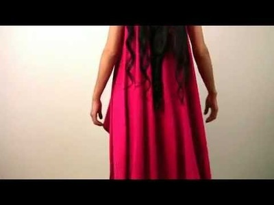 Платье за 30 секунд (Create A Sleeveless Draped Cardigan In 30 Seconds)