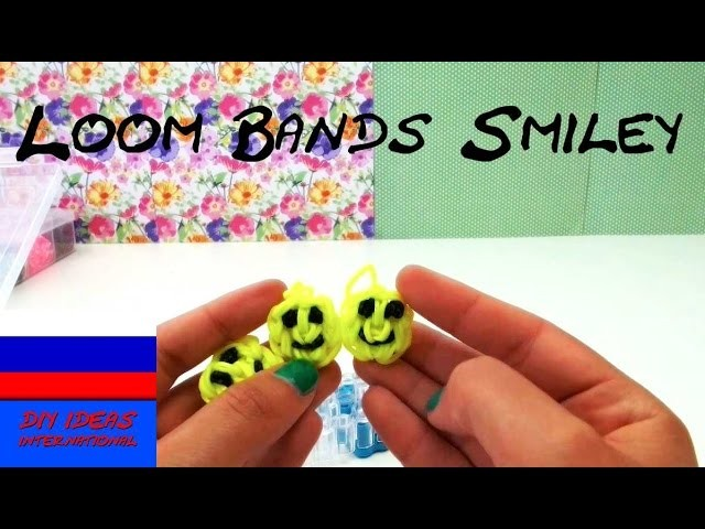 Смайлики из резинок Loom Bands Smileys Rainbow Loom Smiley Tutorial (RU)