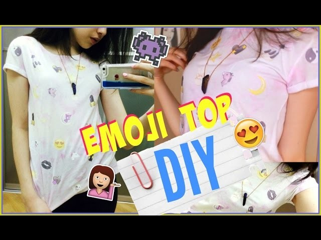 DIY:EMOJI TOP FOR SUMMER