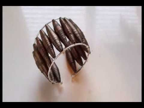 How to make a paper bead cuff bracelet