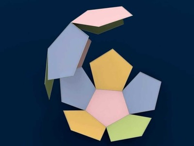 Make 3D Solid Shapes - Dodecahedron. Додекаэдр