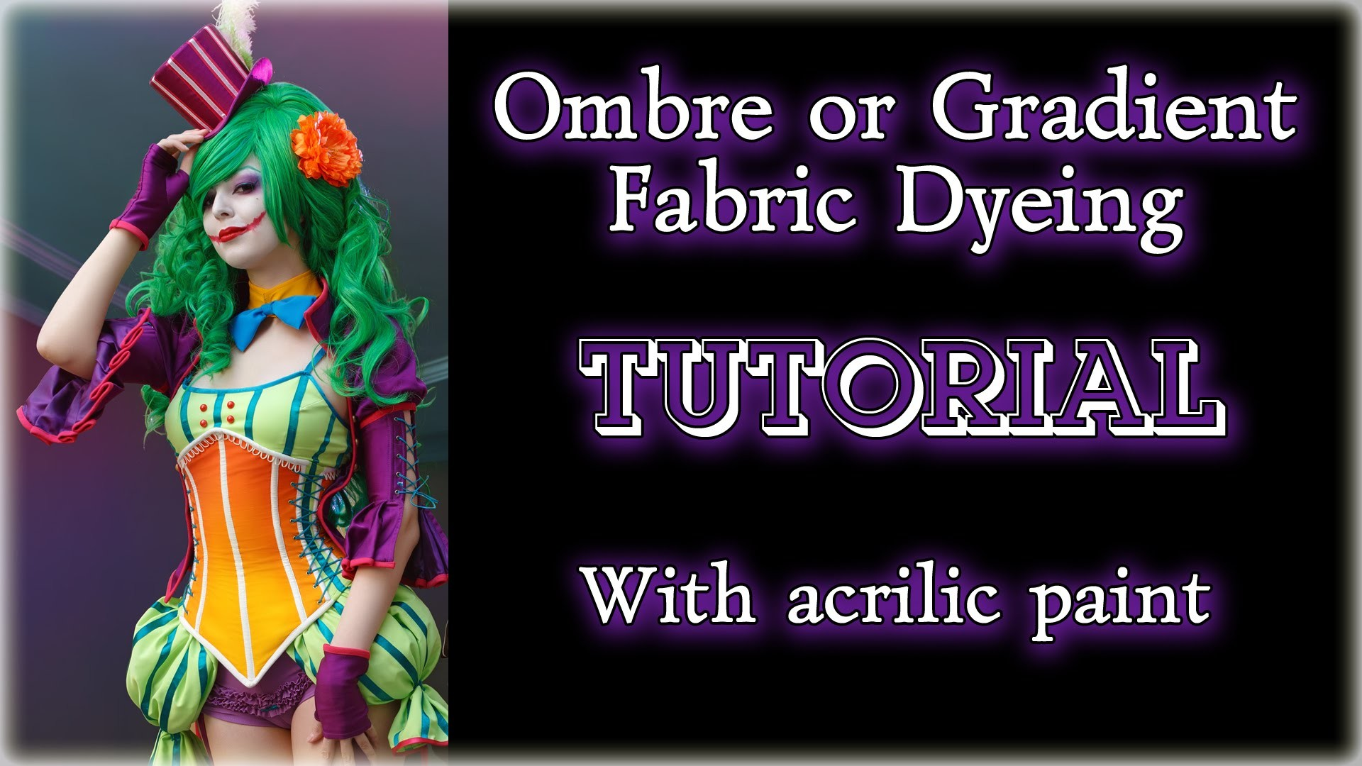 Ombre or Gradient Fabric Dyeing TUTORIAL (with acrilic paint) [Eng sub]