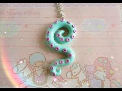 Пастельное ожерелье | Pastel Octopus Tentacle Necklace | DIY by Dana Tinker