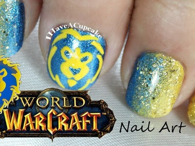 World of Warcraft Nail Art - Alliance