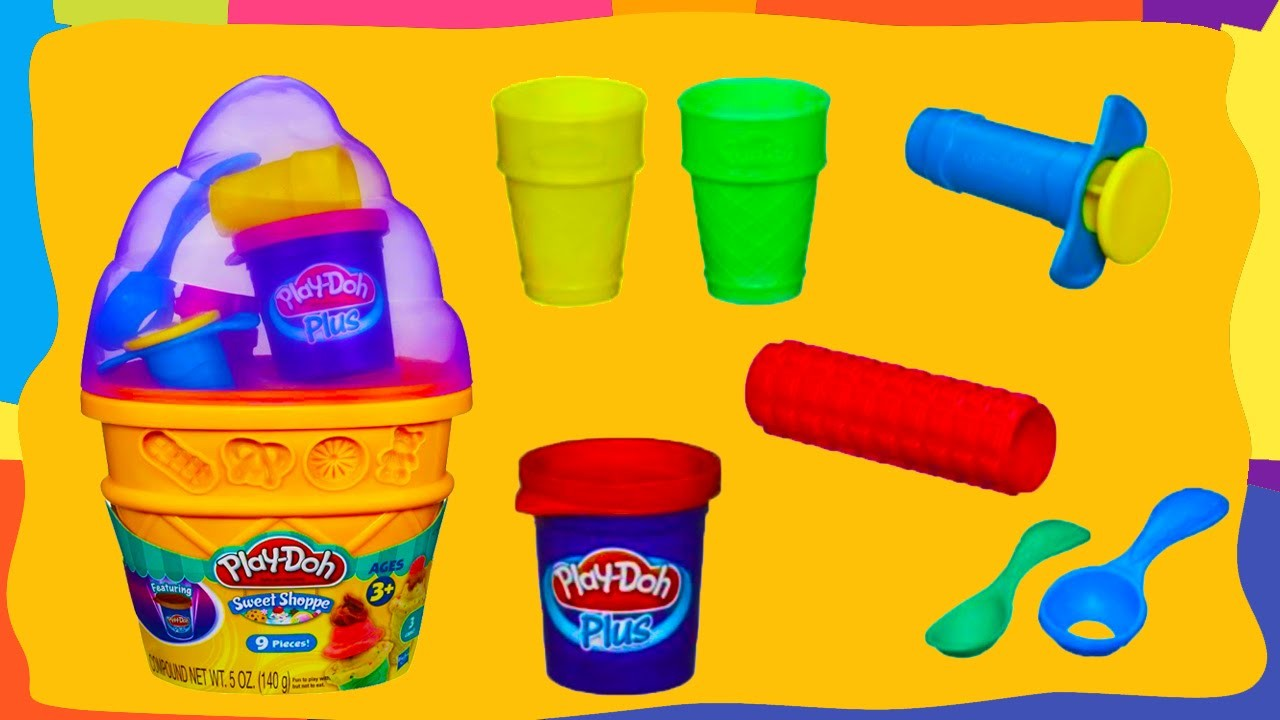 Play Doh Sweet Shoppe Ice Cream Cone Container Craft Kit by Hasbro | Пластилин Плей До мороженое